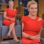 Kate Winslet in Victoria Beckham –  'The Tonight Show Starring Jimmy Fallon'