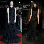 Katherine Waterston In Nicholas Oakwell Couture  At 'Steve Jobs' London Film Festival Closing Night Premiere