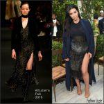 Kim Kardashian In Altuzarra  At  CFDA/Vogue Fashion Fund Show