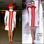 Lady Gaga In Jonathan Saunders – LAX