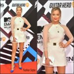Laura Whitmore in Hasan Hejazi  – 2015 MTV European Music Awards
