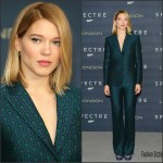 Lea Seydoux In Miu Miu  At 'Spectre' London Photocall
