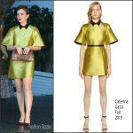 Lily Collins In Caterina Gatta  At CFDA/Vogue Fashion Fund Show