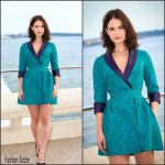 Lily James In Ulyana Sergeenko Demi-Couture  At 'War and Peace' Cannes Photocall