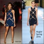 Naomie Harris In Mugler   AT   'Spectre' London Premiere After-Party