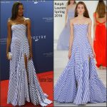 Naomie Harris In Ralph Lauren Collection  At  'Spectre' Zurich Premiere