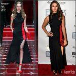 Nina Dobrev In Versace  At 'Bridge Of Spies' New York Film Festival Premiere