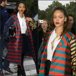 Rihanna  in Dior at the  Eiffel Tower – Paris