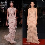 Rooney Mara In Alexander McQueen  At 'Carol' London Film Festival Screening