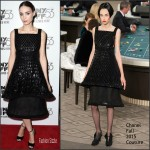 Rooney Mara In Chanel Couture  At  'Carol' New York Film Festival Premiere