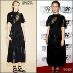 Saoirse Ronan In Valentino  At 'Brooklyn' New York Film Festival Premiere