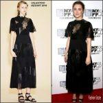 Saoirse Ronan In Valentino  At 'Brooklyn' New York Film Festival Premiere