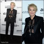 Sharon Stone in Tom Ford  at amfAR's Inspiration Gala in Los Angeles