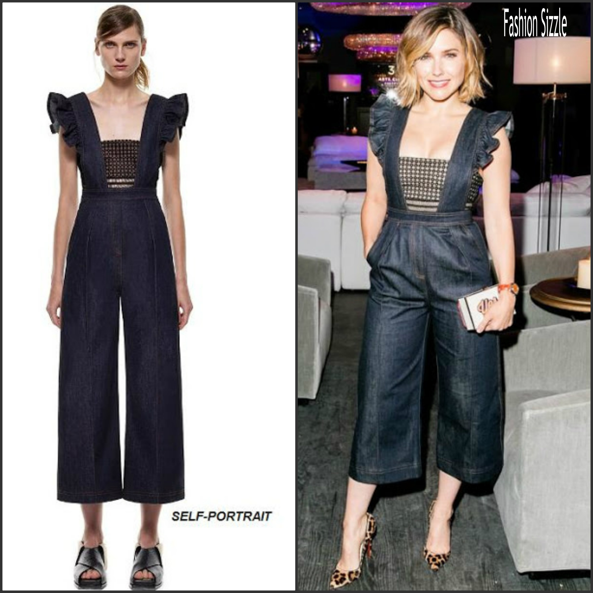 sophia-bush-in-self-portrait-restoration-hardware-chicago-opening