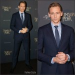 Tom Hiddleston in Polo Ralph Lauren – 'Crimson Peak'  Paris Premiere