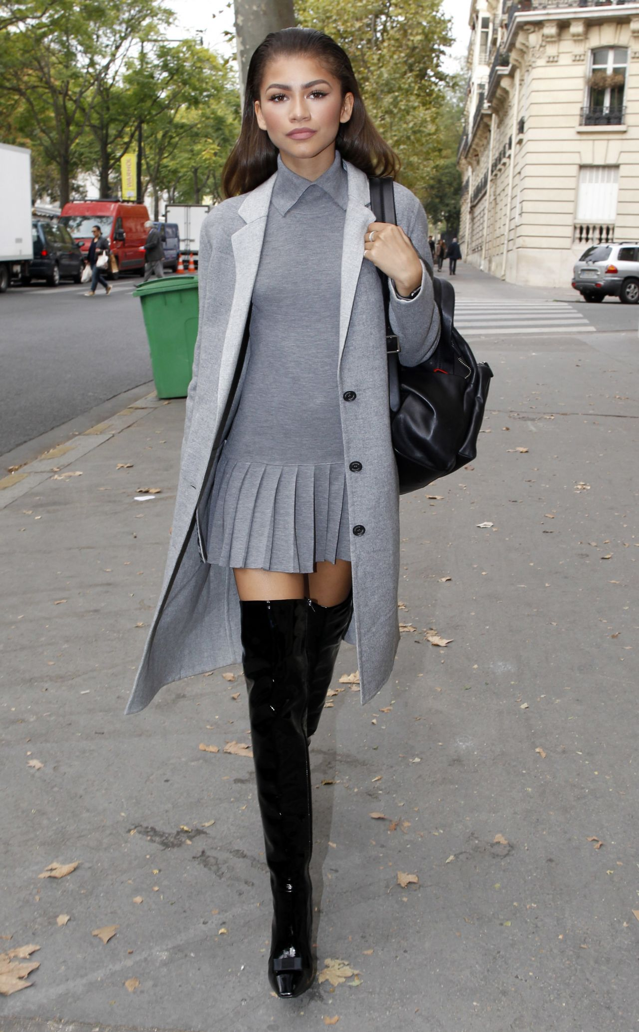 Zendaya Out In Paris Fashion Sizzle