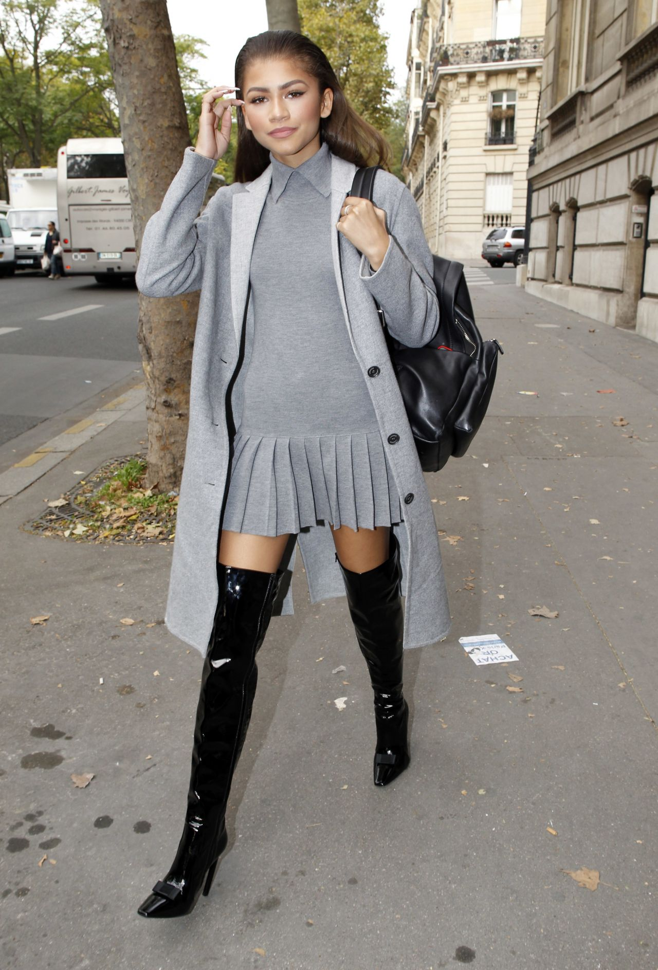 Zendaya Out In Paris Fashionsizzle