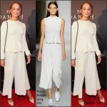 Alicia Vikander In Victoria Beckham  At 'The Danish Girl' Washington Premiere