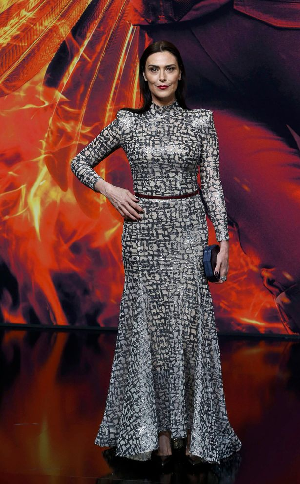 Cast-member-Michelle-Forbes-arrives-for-the-world-premiere-of-The-Hunger-Games-Mockingjay--Part-2
