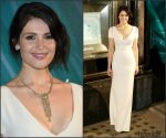 Gemma Arterton In Victoria Beckham  At Tiffany & Co Christmas Window Unveiling