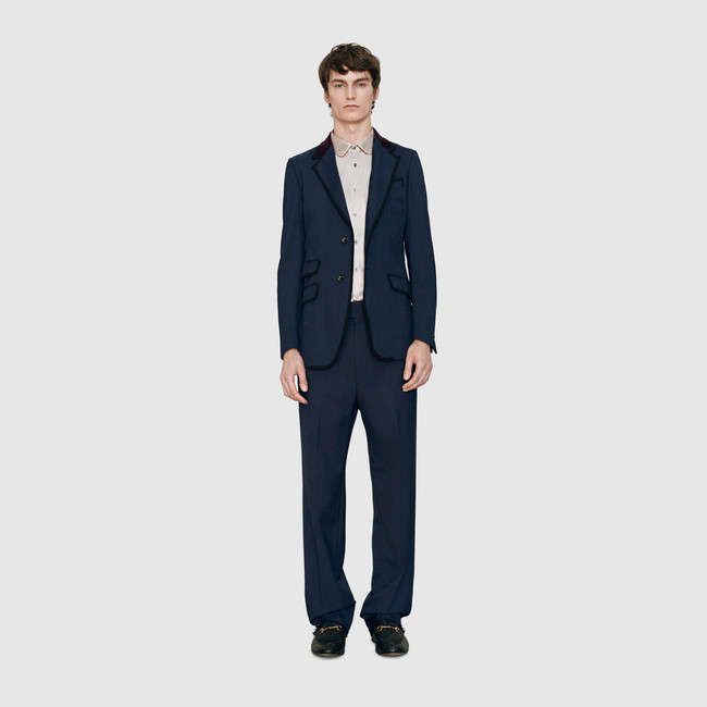 Gucci-Men-2015-Stretch-Twill-Jacket-with-Velvet