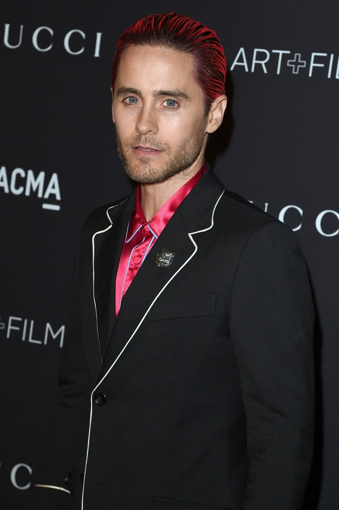 Jared-Leto-2015-Style-Pink-Hair-Silk-Gucci-Shirt