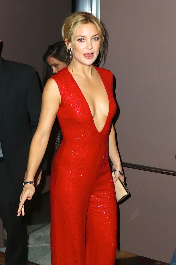 Kate-Hudson-stuns-in-red-romper-which-featured-a-plunging-V-neckline ... Kate Hudson
