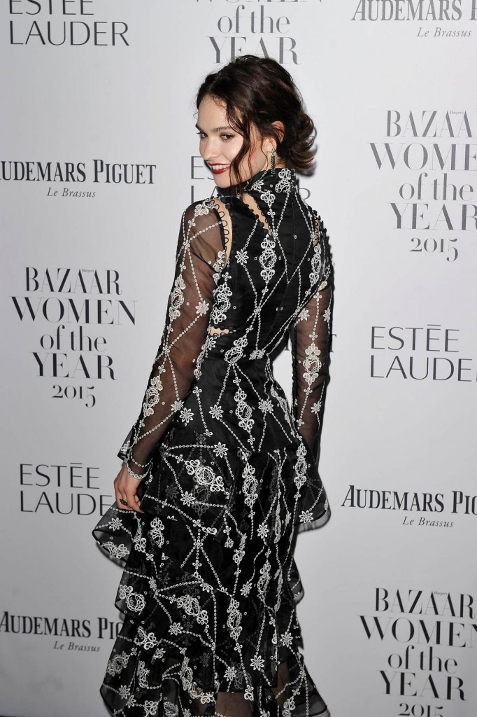 lily-james-in-erdem-at-2015-harpers-bazaar-women-of-the-year-awards