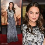 Alicia Vikander  In Louis Vuitton –  The ' Danish Girl ' LA Premiere