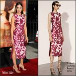 Camilla Belle  In Prabal Gurung – The Danish Girl  LA Premiere