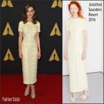 Carey Mulligan In Jonathan Saunders At  Academy Of Motion Picture Arts And Sciences' 7th Annual Governors Awards
