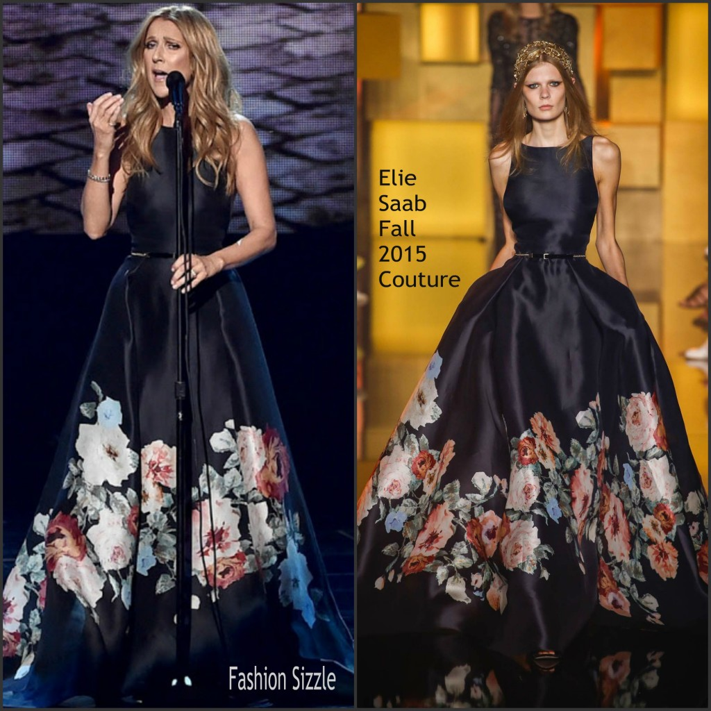 Celine Dion In Elie Saab Couture At The 2015 American