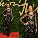 Cheryl Fernandez Versini In Topshop  At  2015 British Fashion Awards