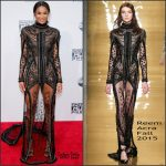 Ciara in Reem Acra at the 2015 American Music Awards