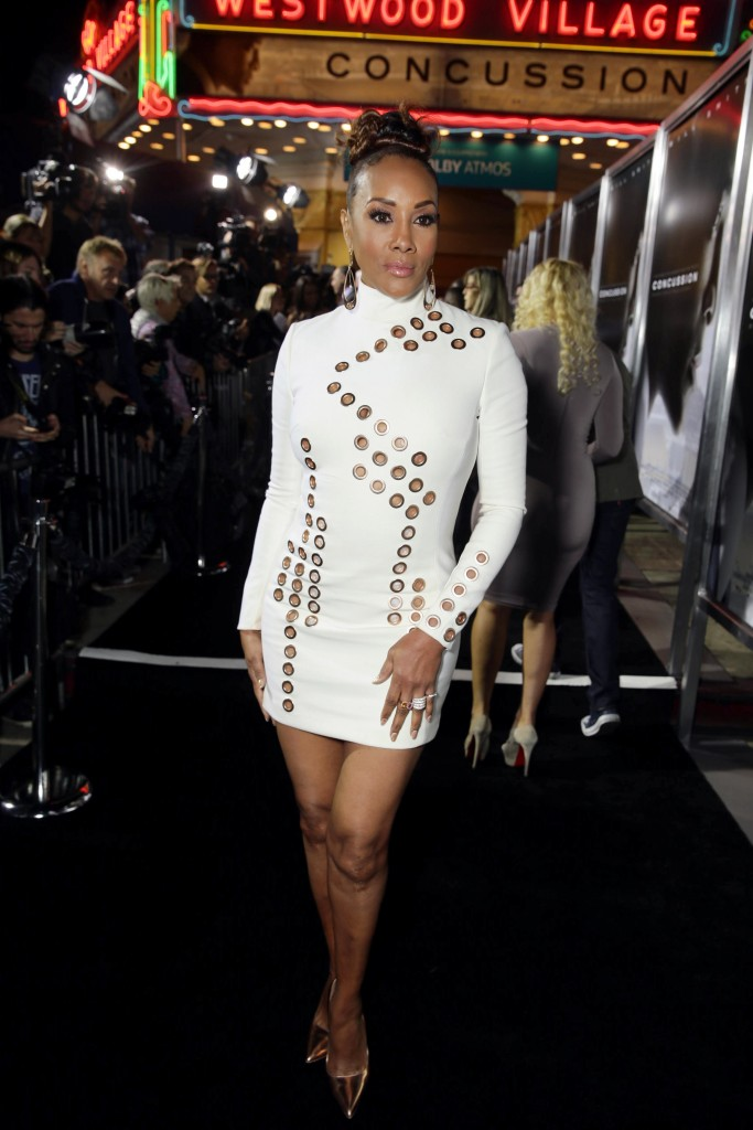 Vivica -A- Fox- In- Mugler - At- 'Concussion'- LA -Screening