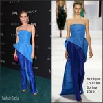 Diane Kruger   in Monique Lhuillier  At  2015 LACMA Art+Film Gala