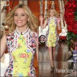 Elizabeth Banks In Mary Katrantzou AT The Ellen Degeneres Show