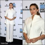 Elizabeth Olsen in The Row at the 2016 Film Independent Spirit Awards Nomination Press Conference