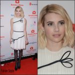 Emma Roberts  In Thakoon dress – 'Donate A Photo' Holiday Kick-Off in New York City, November 2015