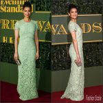 Gugu Mbatha-Raw In Burberry  AT The London Evening Standard Theatre Awards