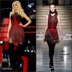 Gwen Stefani In Julien Macdonald At  The Voice Live Play Off