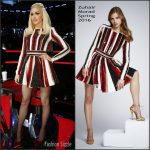 Gwen Stefani In Zuhair Murad– 'The Voice' Live Play Off