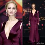 Jennifer Lawrence In Christian Dior Couture  At 'The Hunger Games: Mockingjay – Part 2' Berlin Premiere