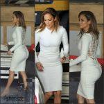 Jennifer Lopez on the set of American Idol in Studio City