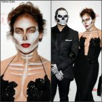 Jennifer Lopez In Michael Costello  at Heidi Klum's 16th Annual Halloween Party