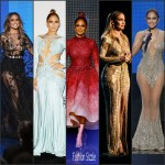 Jennifer Lopez  Outfits at the 2015 American Music Awards