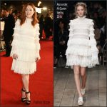 Julianne Moore In Alexander McQueen  At 'The Hunger Games: Mockingjay – Part 2' London Premiere