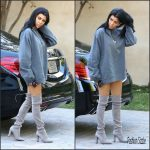 Kourtney Kardashian  in Yeezus top  – Sherman Oaks, October 2015
