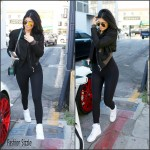 Kylie Jenner  in   Haider Ackermann – leaving Cedars-Sinai Medical Center