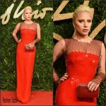 Lady Gaga In Tom Ford  AT – 2015 British Fashion Awards